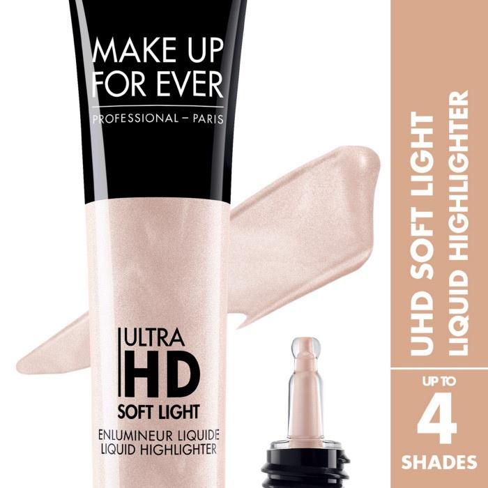 Хайлайтер для лица Ultra HD soft light liquid highlighter Жидкий хайлайтер 12 мл (20 Розовый шампань) Make Up For Ever