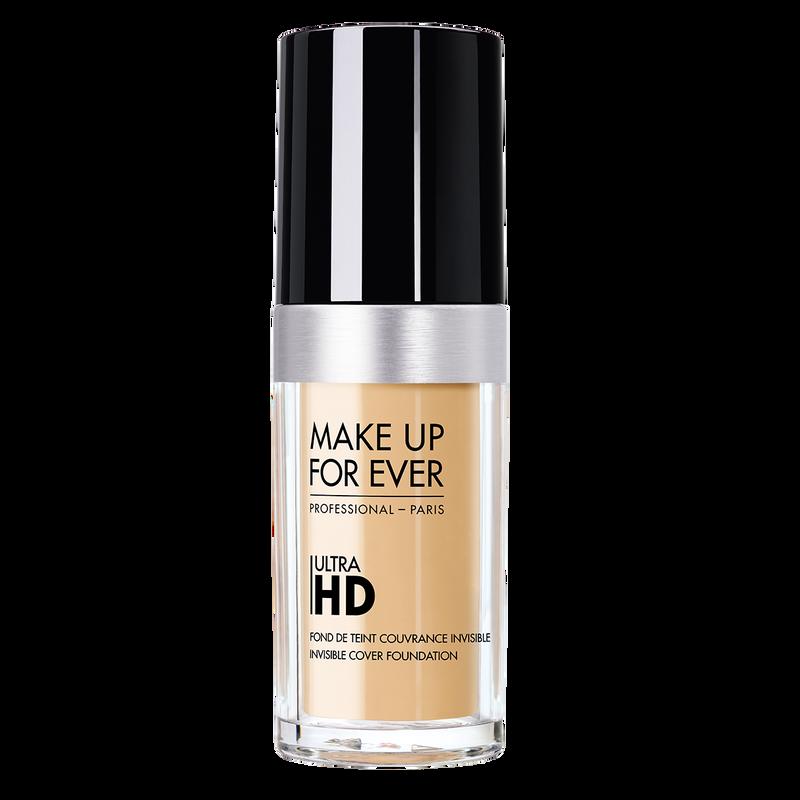 Тональный крем для лица с невидимым покрытием Ultra HD foundation invisible cover foundation 30 мл (Y235 Слоновая кость беж.) Make Up For Ever