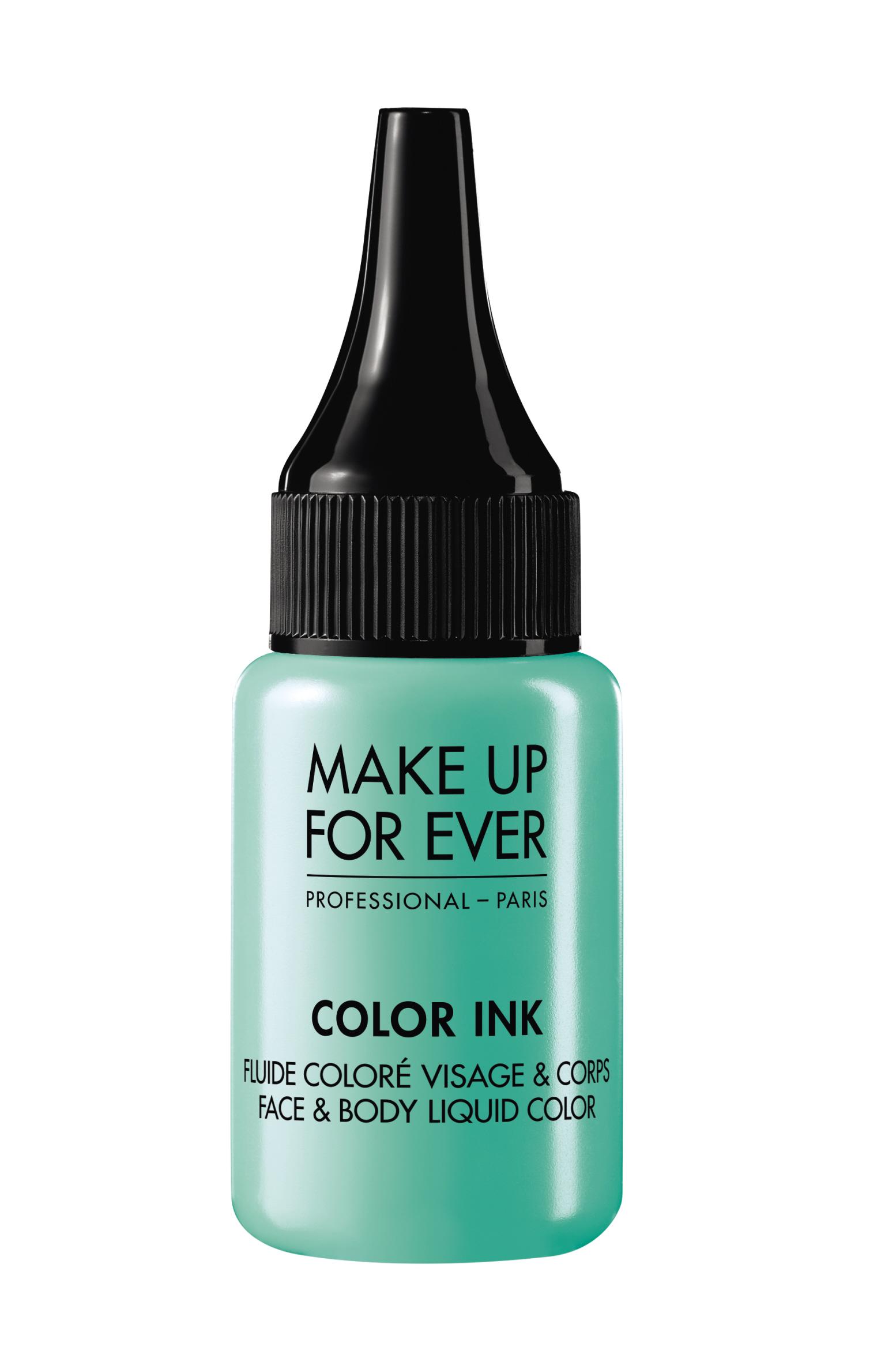 Цветная краска / Color Ink / Face & Body Liquid Color 15 мл (M204 Бирюзовый) Make Up For Ever